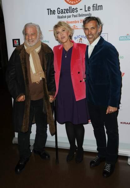 Jean-Paul Belmondo, Dominique Serra et Paul Belmondo