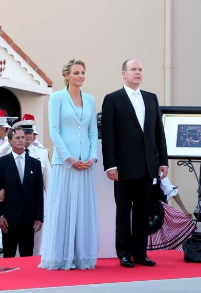 Mariage civil de Charlène Wittstock et Albert de Monaco le 1er juillet 2011