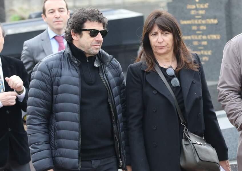 Patrick Bruel et Anne Marcassus lors des obsèques de Véronique Colucci