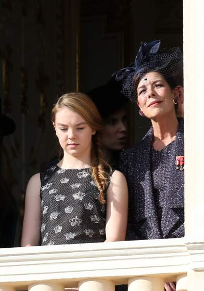 La princesse Alexandra de Hanovre et sa mère Caroline à Monaco le 19 novembre 2014