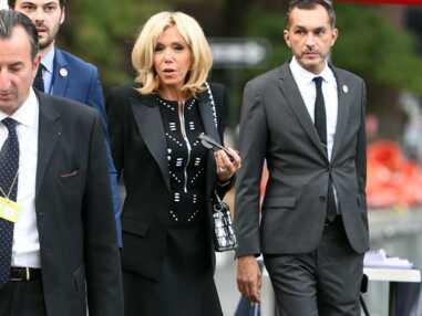 Brigitte Macron très chic en robe noire zippée à New-York