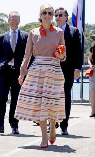 Le roi Willem-Alexander et la reine Maxima des Pays-Bas à Sydney le 3 Novembre 2016