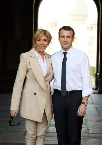Brigitte et Emmanuel Macron : Un couple radieux, chic et amoureux