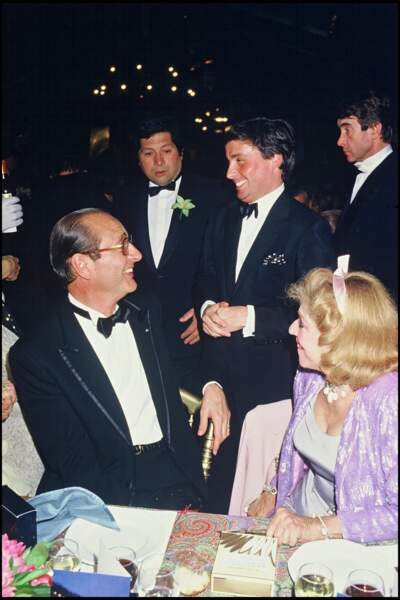 Thierry Le Luron et Jacques Chirac