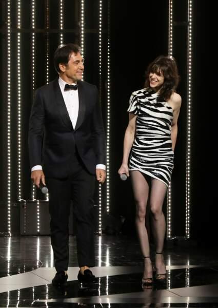 C'est encore côte à côte que Charlotte Gainsbourg et Javier Bardem sont montés sur la scène du Palais des festivals