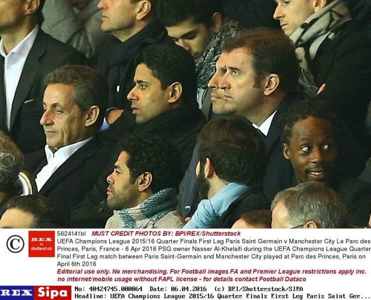 Nicolas Sarkozy, Nasser Al-Khelaïfi, Jamel Debbouze et Gaël Monfils