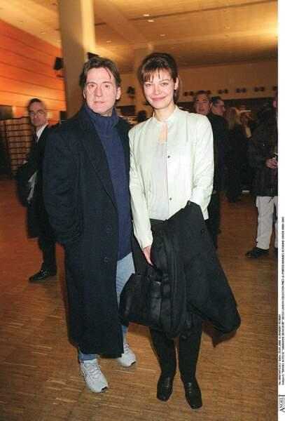 Daniel Auteuil et Marianne Denicourt à un défilé