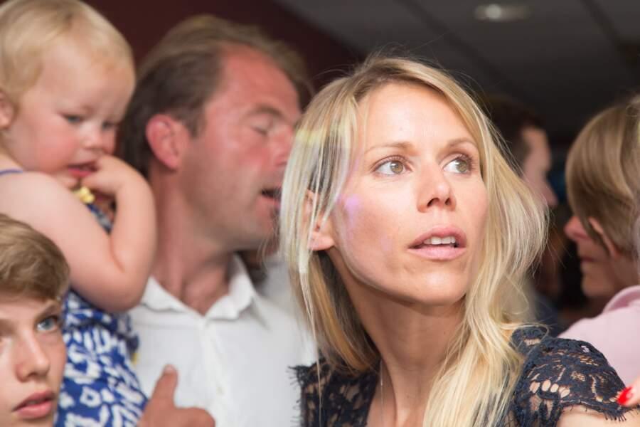 Tiphaine Auzière, son mari et ses enfants lors de la soirée électorale