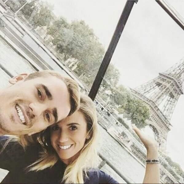 Antouine Griezmann et Erika Choperen à Paris