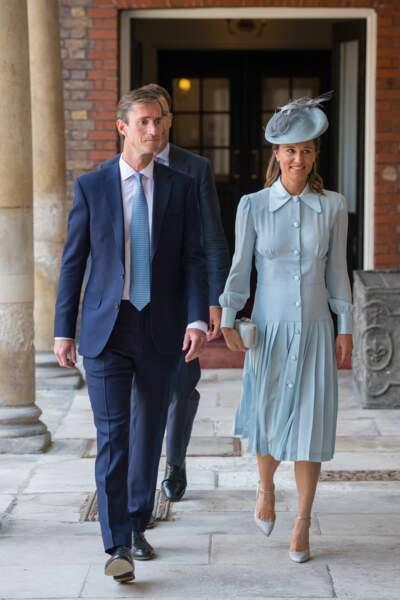 Pippa Middleton et son mari James Matthews au baptême du Prince Louis
