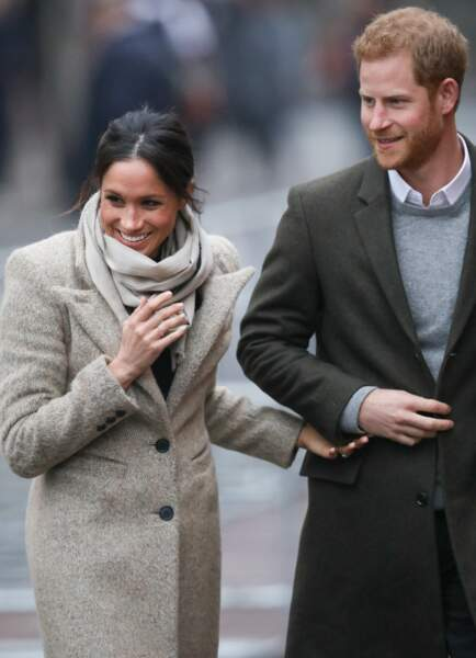 Le prince Harry et Meghan Markle à Brixton, à Londres, le 9 janvier 2018.