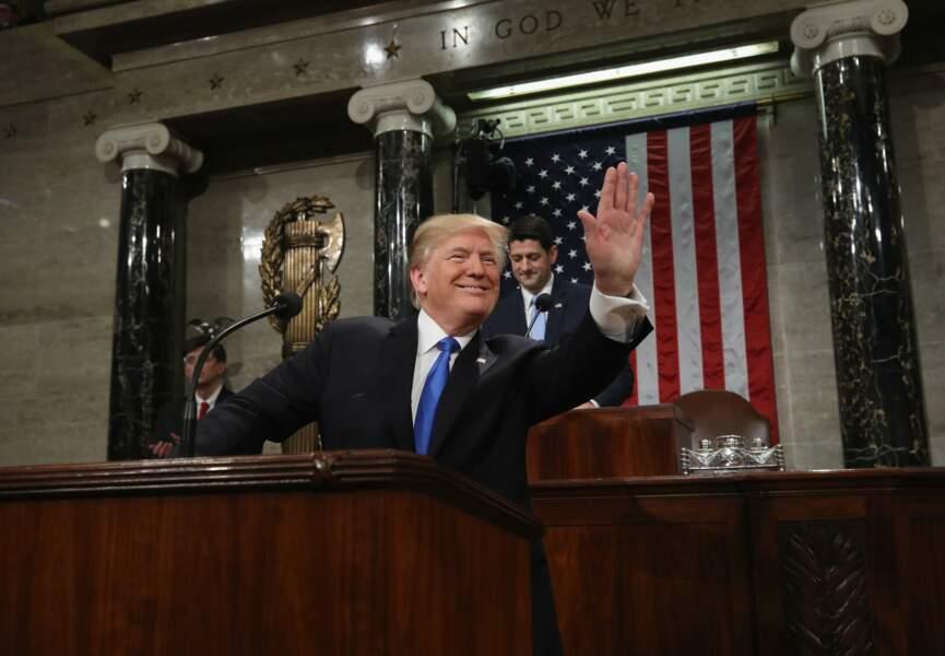 Au plus bas dans les sondages, le Président a également surpris par son optimisme.
