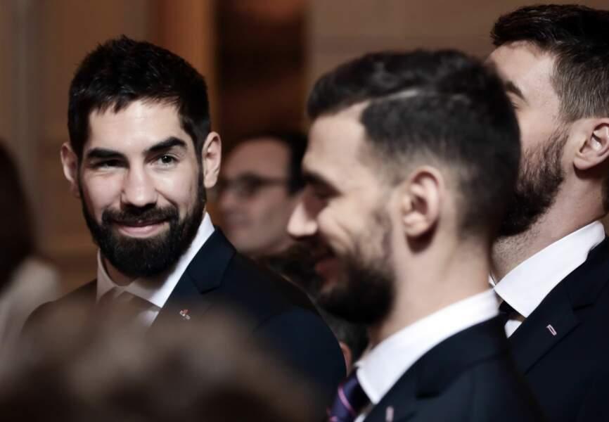 Nicolas Karabatic complice avec ses partenaires en toutes occasions.