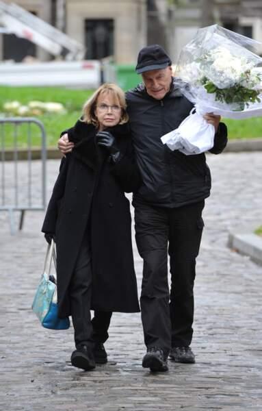Bulle Ogier et Barbet Schroeder aux obsèques De Jacques Rivette