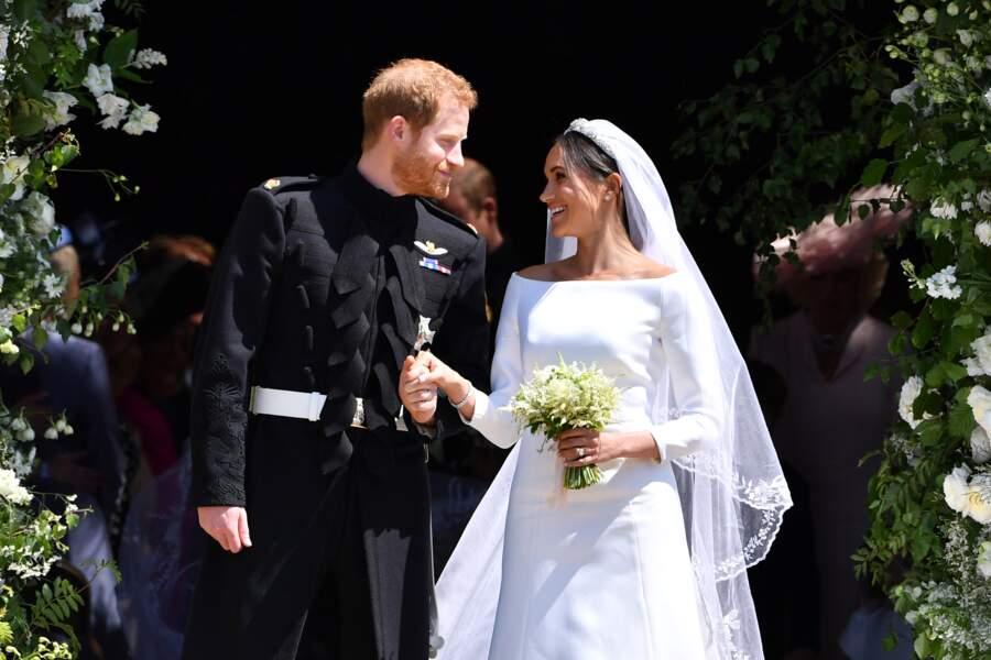 Mariage de Meghan Markle et le prince Harry le 19 mai 2018.