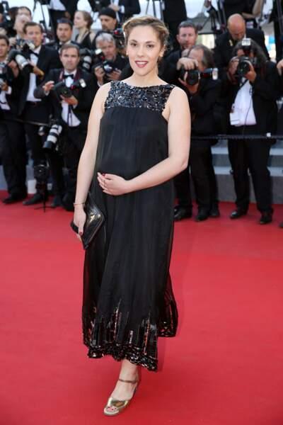 Alyson Paradis enceinte de son fils à Cannes en 2015