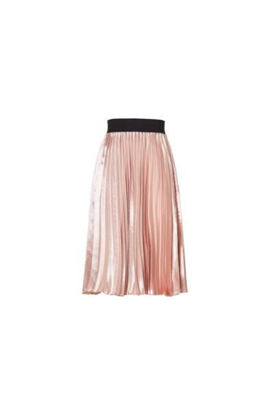 Métallisée, jupe rose Liu Jo, 135 € (liujo.com)