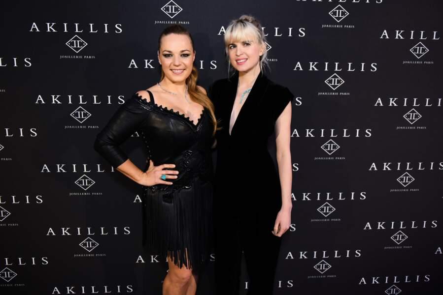 Caroline Gaspard et la chanteuse Cécile Cassel ravissante en combipantalan