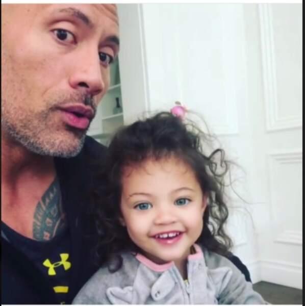 Dwayne Johnson et sa fille Jasmin