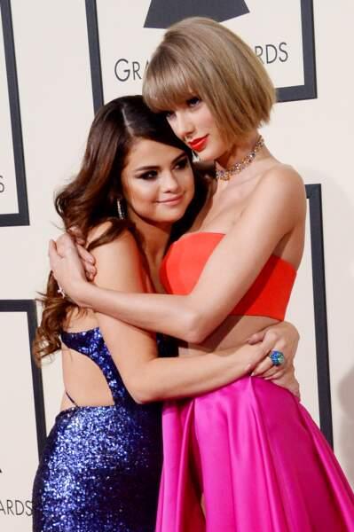 Taylor Swift et Selena Gomez aux Grammy Awards en 2016