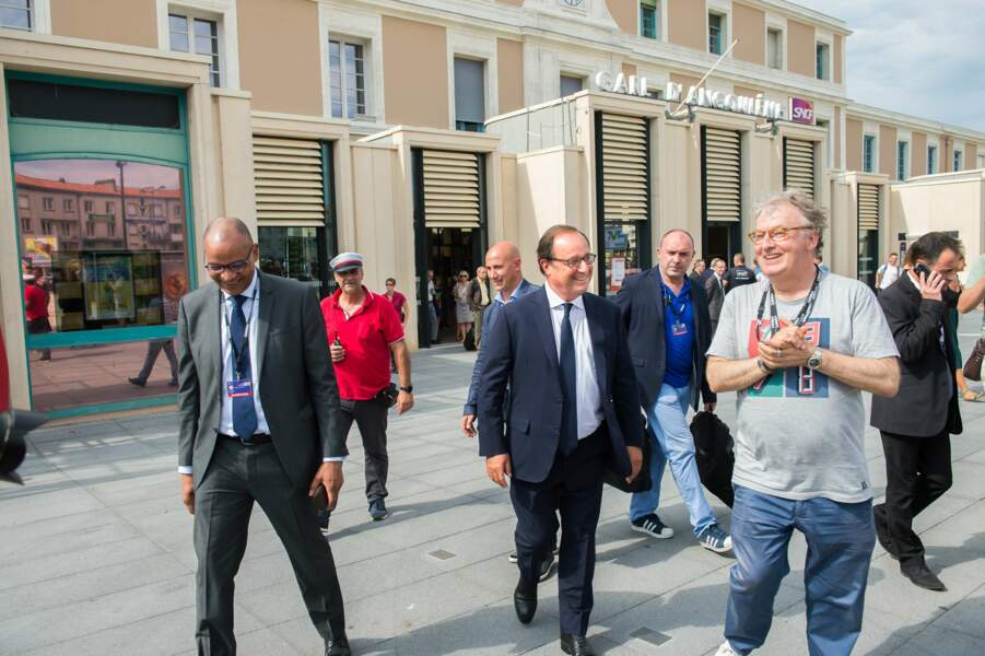 Dominique Besnehard très heureux de recevoir l'ancien chef de l'Etat