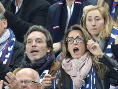 Anne-Claire Coudray et son compagnon Nicolas Vix, supporters des Bleus