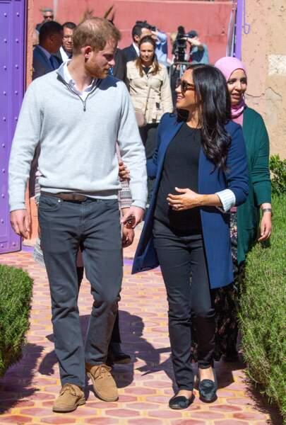 Les époux Sussex au Maroc.