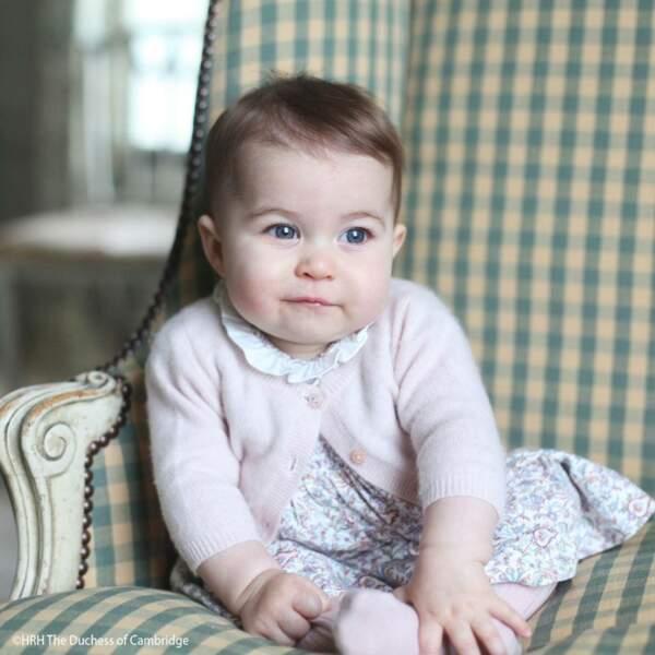Portrait de la princesse Charlotte, photographie à Norfolk en novembre 2015 par Kate Middleton