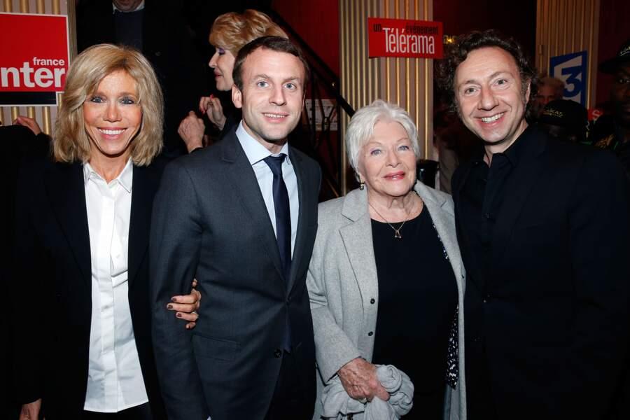 Brigitte Trogneux, Emmanuel Macron, Line Renaud, Stéphane Bern