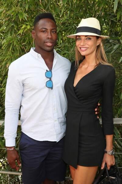 Ariane Brodier et son compagnon Fulgence Ouedraogo au village de Roland Garros, le 5 juin 2017.