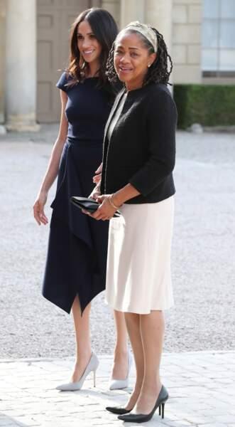 Meghan Markle et Doria Ragland sublimes en robe
