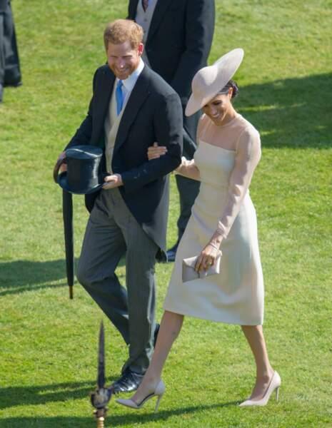 Le prince Harry et Meghan Markle pour les 70 ans du prince Charles au palais de Buckingham à Londres le 22 mai 2018