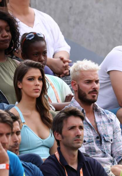 M. Pokora et Iris Mittenaere complices à Roland-Garros.