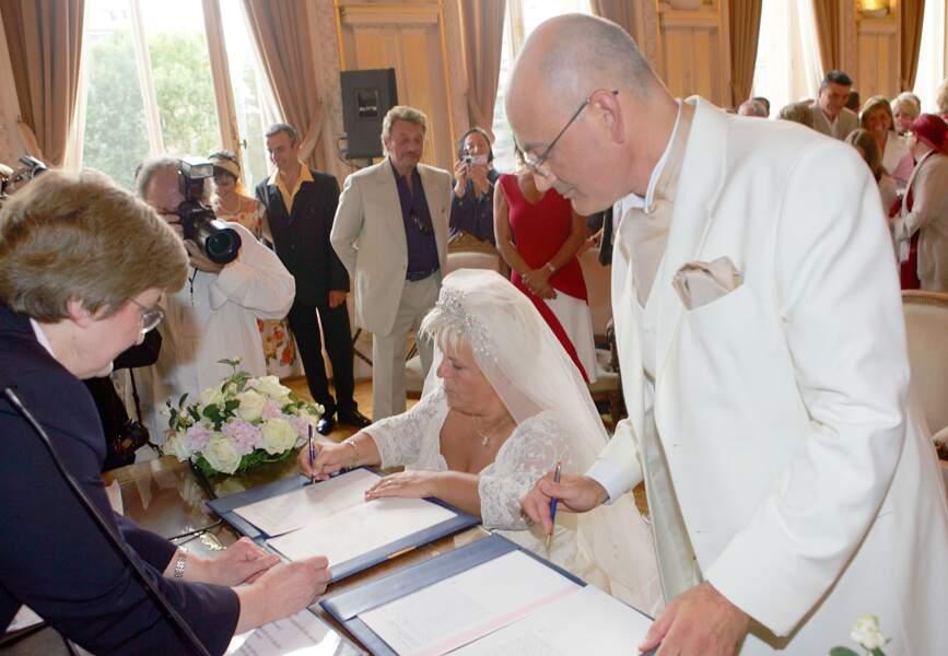 Mariage de Mimie Mathy et Benoist Gérard le 27 août 2005 à Neuilly sur Seine