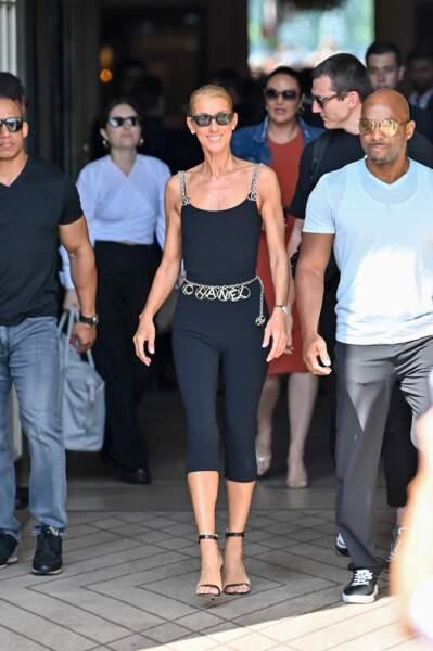 Cette tenue mettait en valeur la silhouette de sylphide de Céline Dion