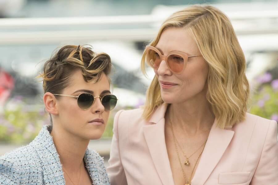 Kristen Stewart et Cate Blanchett, complices lors du photocall du jury à Cannes