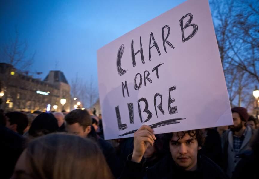 Hommage à CHarb, directeur de la rédaction de Charlie