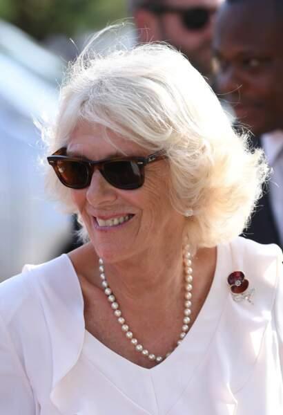 Camilla et ses perles, Accra, au Ghana, le 2 novembre 2018.