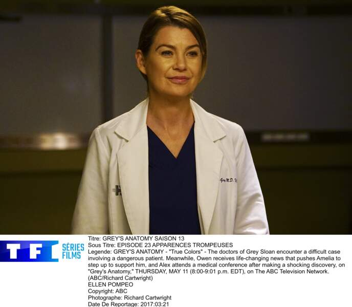 """Depuis 2005, l'actrice Ellen Pompeo incarne la chirurgienne Meredith Grey, dans la série """"Grey's Anatomy"""""""