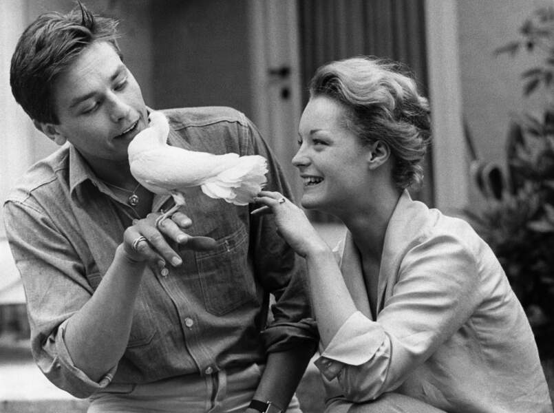 Alain Delon et Romy Schneider en 1961