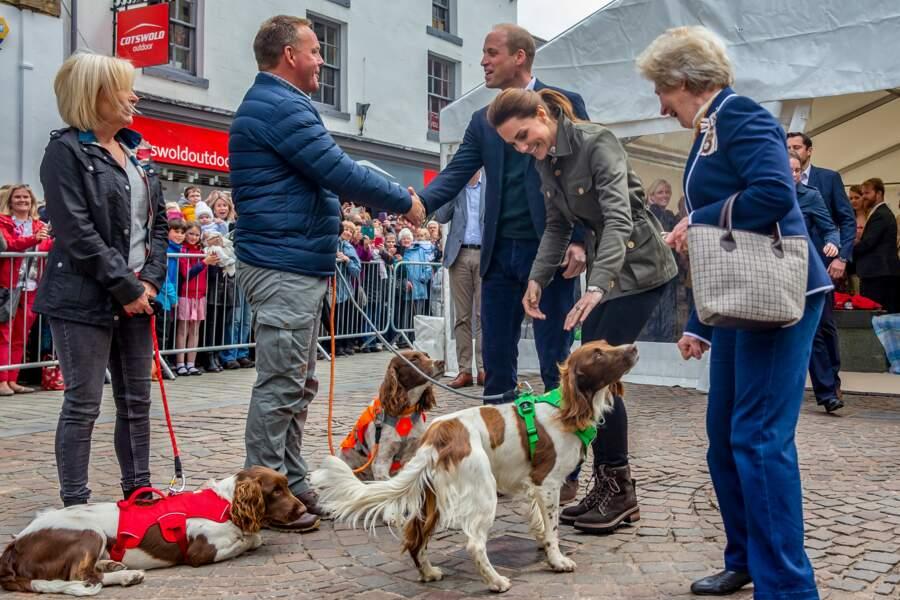 Kate Middleton a également retrouvé des vieilles connaissances le 11 juin 2019 à Cumbria.