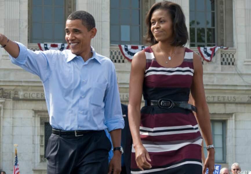 Barack et Michelle font campagne ensemble, le 28 septembre 2008