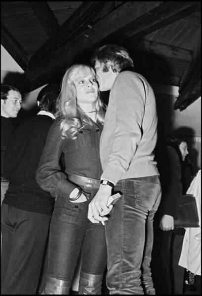 Sylvie Vartan et Johnny à Avoriaz en 1967