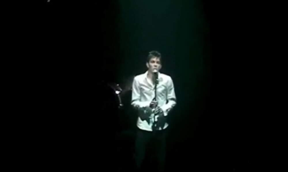 Grégory Lemarchal sur scène à l'Olympia, c'était son rêve