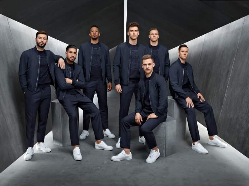 Hugo Boss habille l'équipe allemande pour ses déplacements durant la Coupe du Monde.