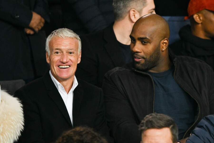 Didier Deschamps et Teddy Riner passent du bon temps devant le match du PSG