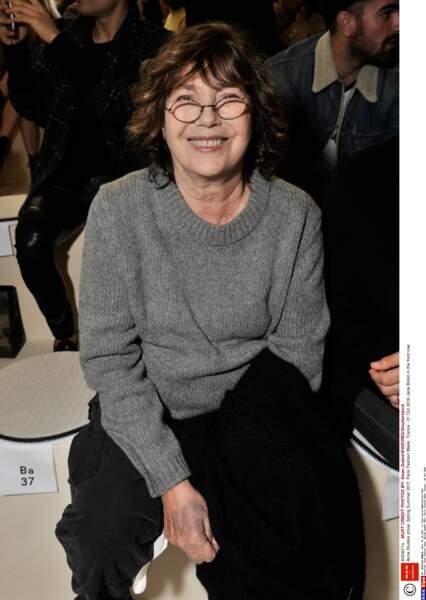 Jane Birkin à la Fashion Week de Paris, en octobre 2016