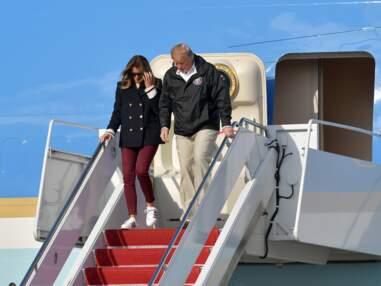 PHOTOS – Melania Trump : elle s'autorise un look décontracté jean skinny et baskets Adidas