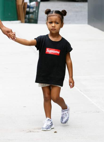 North West (la fille de Kim Kardashian et Kanye West) à New York, le 9 septembre 2016.