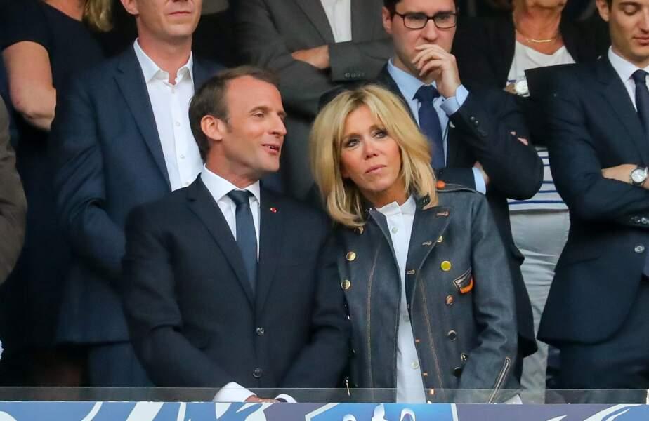 Emmanuel Macron et sa femme, la Première dame Brigitte Macron
